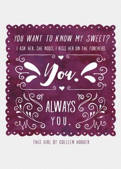 Quote Book This Girl by Colleen Hoover New Adult (NA)