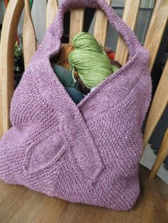 Free Knitting Pattern for Tote for a Cause
