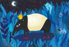Prom queen by Zsalto via Society6...cuz i love Tapirs!