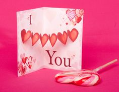 Valentine's Day Heart Pop Up Card Template | Spoonful