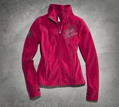 Pink doesn't always equal sweet. | Harley-Davidson Rebel HDMC Fleece Jacket