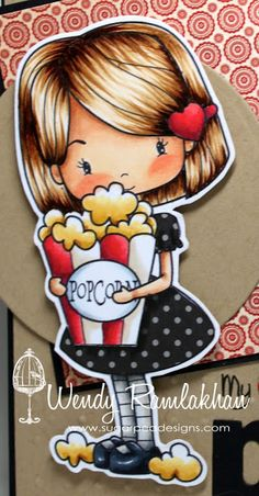 SugarPea Designs: My heart belongs to you Pop Copic Markers Tutorial, Copic Sketch Markers, Pattern Coloring Pages, Coloring Tutorial, Colored Popcorn, Copic Drawings, Collages, Alcohol Markers, Scrapbook Paper Crafts