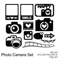 Photo appareil photo réglé svg dxf eps ai png par EasyCutPrintPD