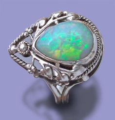ARTIFICERS' GUILD silver & opal ring - Arts & Crafts Jewelry