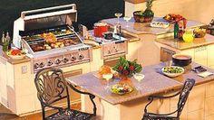 outdoor kitchen island granite