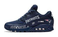 Bandana Fever Red Bandana New England Patriots Print Custom Navy Nike Air Max Shoes Nike Shoes Air Force, Nike Air Max, Custom Converse Shoes, Custom Sneakers, Denver Broncos Womens, Nike Thea, Air Max Sneakers, Shoes Sneakers, Sneakers Style