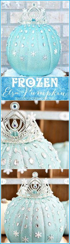 DIY Frozen Elsa Pumpkin. Oh, my word! This frozen Elsa pumpkin is seriously adorable! And it's much more easy than you may think.