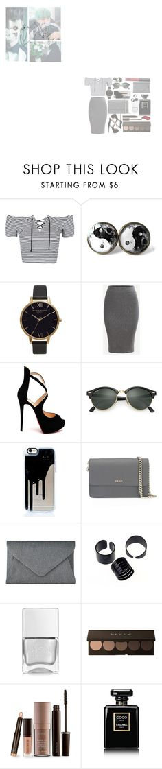"""@20@"" by jamlesspotato ❤ liked on Polyvore featuring Topshop, Olivia Burton, Christian Louboutin, Ray-Ban, DKNY, John Lewis, Nails Inc., Laura Mercier, Chanel and Kat Von D"