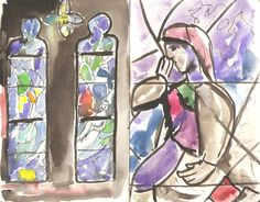 2016-02-04  Sketching the Chagall windows at Tudeley