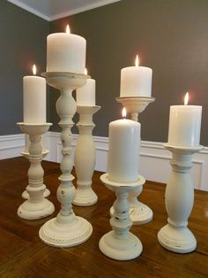 DIY guide to spray painting and distressing candlesticks for a uniform look