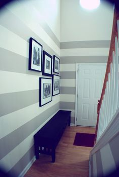 striped entry way
