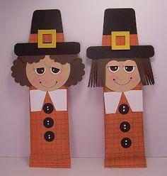 Pilgrim Candy Bar Wrappers - punch art - bjl