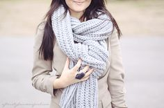 cozy knit scarves are what winter is all about