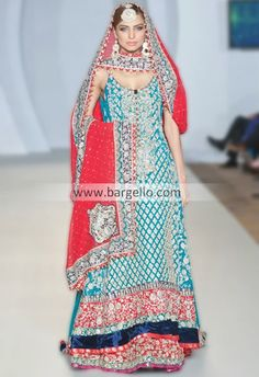 that blue print!!-D4303 UK Designers AMTY Latest Evening Party Wear 2013 in Chiffon with Lavishing Embroidery Leeds City UK Bridal Wear