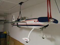 rc+airplane+storage | Garage ceiling plane storage (looking for plans)