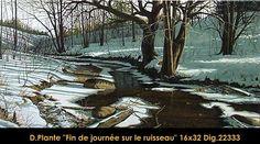 Fin du journee sur la ruisseau Painting, Art, Painting Art, Paintings, Kunst, Paint, Draw, Art Education, Artworks