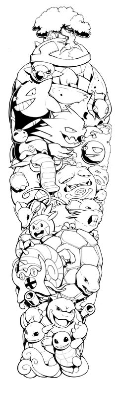 Pokemon Sleeve by H0lyhandgrenade.deviantart.com on @DeviantArt