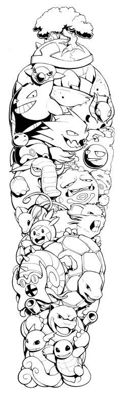 Pokemon Sleeve by H0lyhandgrenade.deviantart.com on @DeviantArt