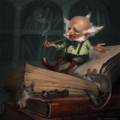 nains gnomes farfadets trolls - Page 4 Woodland Creatures, Magical Creatures, Fantasy World, Fantasy Art, Illustrations, Illustration Art, Trolls, Kobold, Elves And Fairies