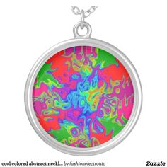 cool colored abstract necklace