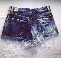 Get this acid-washed look by soaking your shorts in coffee - really!