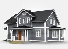 Grey Siding, Grey Exterior, Cottage Homes, Home Fashion, Canopy, Bungalow, Facade, House Plans, Sweet Home
