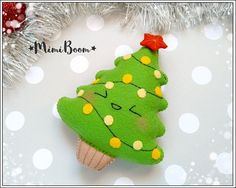 This is a digital tutorial on how to make the Christmas tree ornament from felt Included step by step instructions, pictures and full size pattern pieces. (no need to enlarge or resize). Its completely hand sew and you dont need a sewing machine. THIS IS NOT A FINISHED TOY. THIS IS A PDF PATTERN DOWNLOAD. All needed materials you must to purchase yourself. Approx. size of toy is: about 5 inch (12.5 cm) tall. PDF tutorial includes: - Step by step pictures - English step by step instruction...
