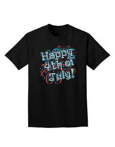 "This festive ""Happy 4th of July - Fireworks Design"" will be perfect for adding some spark this Independence Day! These fun printed garments are a great personal touch on you, or as a gift to a friend"