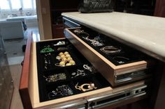 Invest in jewelry organizers. When everything you own is laid out in plain sight in an organized fashion, it will make choosing the perfect accessory easier and more fun.