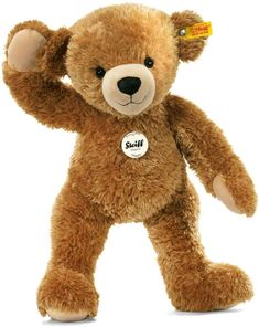 Steiff Happy Teddy Bear 16 Inches Children Cuddly Soft Woven Handmade Plush Toy for sale online Steiff Teddy Bear, Teddy Bears, Giant Teddy Bear, Big Bear, Charlie Bears, Baby Co, Plush, Beer, Stuffed Animals
