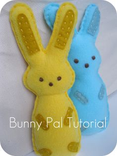 Celebrate Easter by making adorable Easter sewing projects like the Bunny Pals!