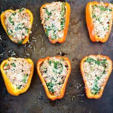 No Carb Dinner Ideas No Carb Dinner Meals: Grain-free Sausage, Goat Cheese Arugula Stuffed Peppers, Real Food Recipes, Cooking Recipes, Yummy Food, Healthy Recipes, Veggie Recipes, Healthy Foods, Yummy Recipes, Diet Recipes, Tasty