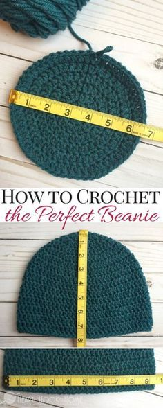 Crochet Beanie Ideas How to Size Crochet Beanies Master Beanie Pattern - Stuck on crocheting beanies? Use this master beanie pattern to make just about any kind of hat. Any size, any yarn, any hook. Bonnet Crochet, Knit Or Crochet, Crochet Crafts, Crocheted Hats, Single Crochet, Beginner Crochet, Double Crochet, Crochet Adult Hat, Easy Crochet Hat