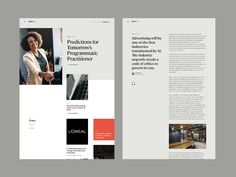 Essence Editorial Pages by Christopher Reath for ueno. on Dribbble