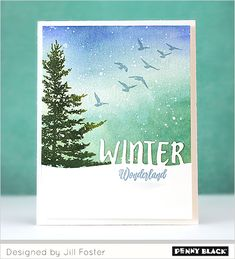 Card features 30-387 Festive Snippets, 30-320 Spread Cheer, 30-379 Woodland Beauty Penny Black