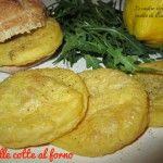Panelle con farina di ceci, cotte al forno #ricetta #vegana