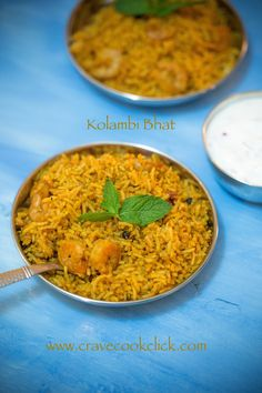 Kolambi Bhaat/Prawns Rice Recipe/How to make kolambi bhat or prawns biryani Prawn Biryani Recipes, Indian Prawn Recipes, Prawn Rice Recipe, Rice Recipes, Cravings, Seafood, Food And Drink, Rice Bowls, Dishes