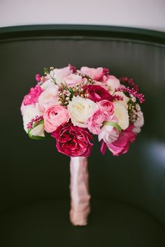 YES! This is my dream bridal bouquet. Love fuschia, light pink and white (roses and peonies plus some green)