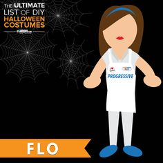 Want to #DressLikeFlo?  View The Ultimate List of DIY Halloween Costumes: ecampusdot.com/1MUKey7