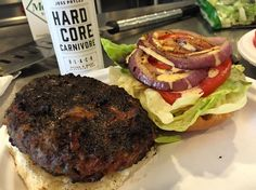 Um yeah... This definitely did not disappoint!  The crust and flavor from the @hardcorecarnivorerub is really great plus we added some grilled onions fresh tomato lettuce and of course some #sortawhite sauce... Truly is the ultimate condiment!  Awesome rub @jesspryles and a great addition to our spice cabinet. #burger #beef #bbq #sortawhite #lanesbbq #lunch #manmeatbbq #biggreenegg by lanesbbq
