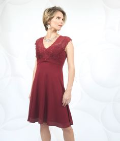 Josephine Burgundy Lace Dress - getthisgetthis