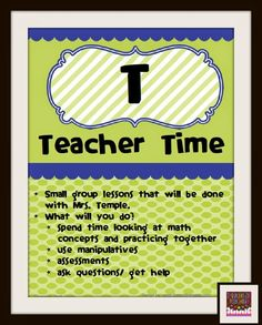 Thinking of Teaching: Guided Math Posters and Planning (FREEBIES)