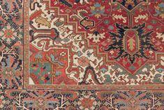 Antique Heriz Carpet | London House Rugs #rugpattern #rugdesign #pattern