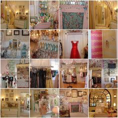 Girlie Chic Boutique in Indianapolis - Store Displays galore :) In love with the shabby chic look. Market Displays, Craft Show Displays, Craft Show Ideas, Store Displays, Display Ideas, Booth Ideas, Shabby Chic Boutique, Boutique Decor, Boutique Design