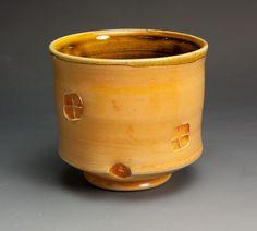 Soda fired white stoneware 16 plus oz tea by John Spiteri. Lisle, IL, United States