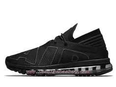 new concept 56bb5 5361d Nike Air Max Flair UpTempo Triple Black 942236 002 Chaussures Nike Running  Pour HOmme-1708253348 -