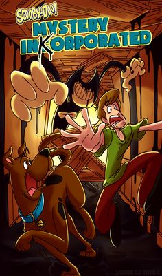 Phooey, looks like I didn't fool anyone. :P This was a fun piece to do, regardless – had to study the coloring style used for old Scooby Doo VHS covers! Believe it or not, I've never drawn Shaggy or Scooby seriously before now. The hand in the. Cartoon As Anime, Cartoon Games, Scooby Doo Mystery Incorporated, Bendy Y Boris, Alice Angel, Fnaf Wallpapers, Fandom Crossover, Cartoon Crossovers, Bendy And The Ink Machine