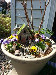 Leila's fairy garden