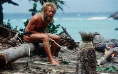 Not a traditional pin up but Tom Hanks (and Wilson) really made a mark on the beach film scene.