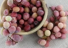 Freeze grapes. Mix 1 package of unflavored gelatin and 2 Tbsp lemon juice. Combine with grapes. And TA DA! A healthy alternative to sour candy. No more skittles or sour patch kids.